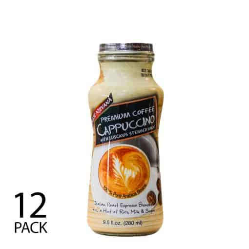 Premium Coffee Cappuccino with Luscious Steamed Milk [9.5 oz Glass Bottle](Pack of 12)